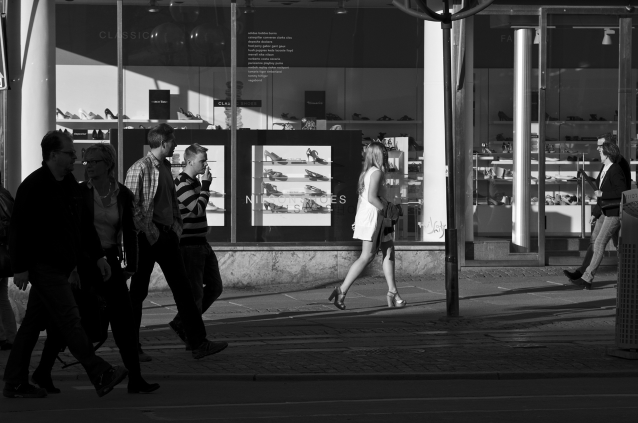 Girl in White - Streets of Gothenburg