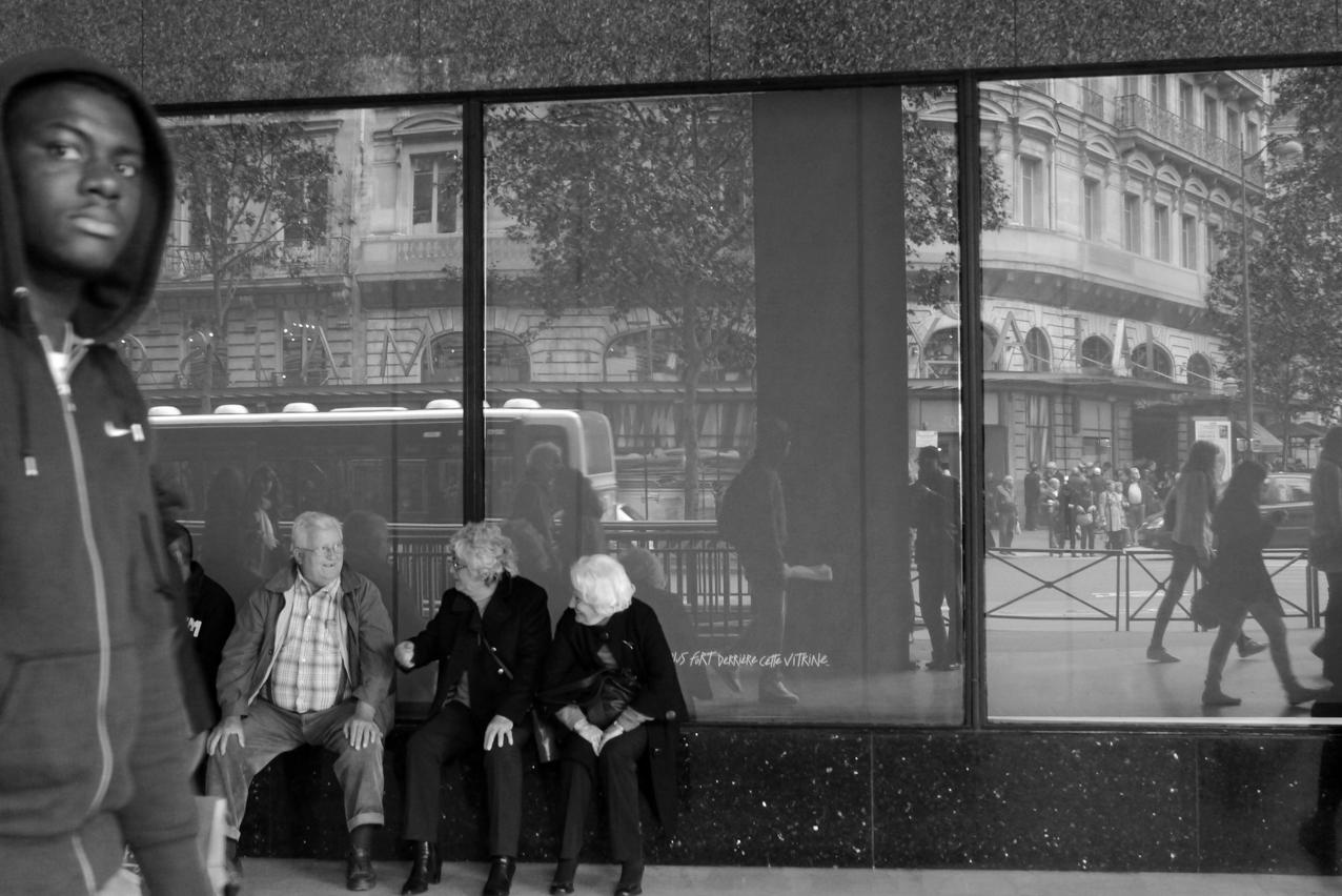 Lafayette Street reflection