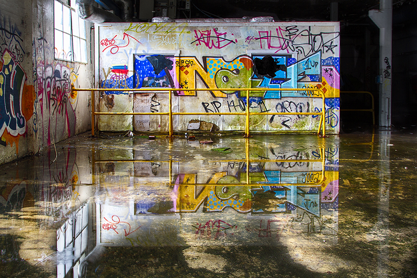 Factory Reflection - Urban Photography