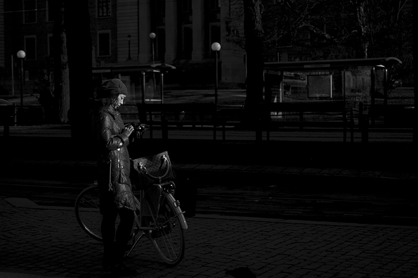By her bike - Street Photography