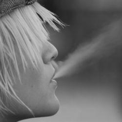 Candid Smoker