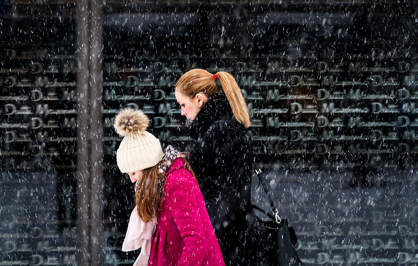 Together in the snow - Street Photography