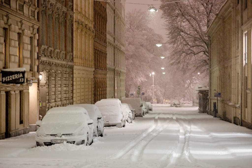 Goteborg in the snow