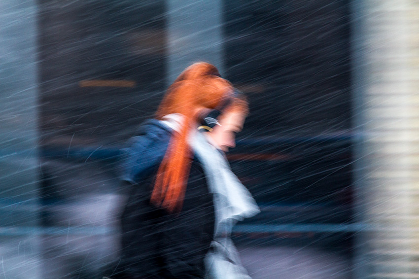 Rushing thru the storm - Street Photography
