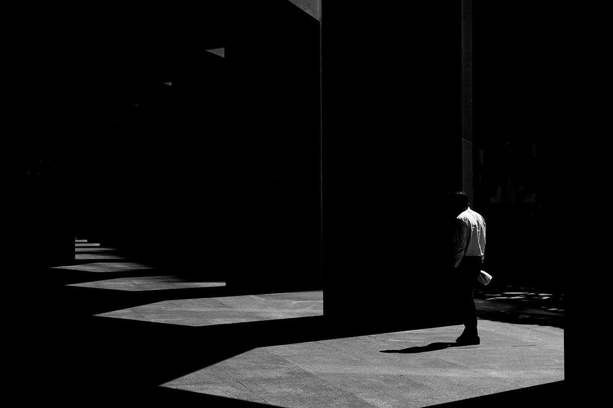 walking in light - Street Photography